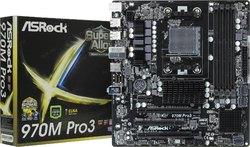 Материнская плата ASRock 970M PRO3/ Socket AM3 plus, Socket AM3